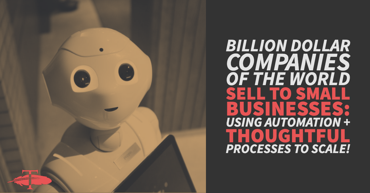 Billion Dollar companies of the world sell to Small Businesses Using automation thoughtful processes to scale